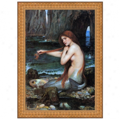 A Mermaid, 1901, Canvas Replica Painting: Small