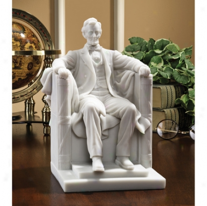 """""""abraham Lincoln Memorial"""" Bonded Marble Resin Statue"""