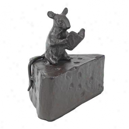 Aesop Fables Town And Country Mouse Cast Iron Statue