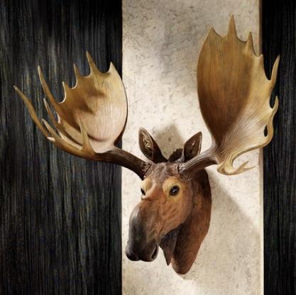 Alaskan Moose Trophy Wall Sculpture