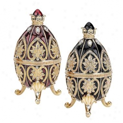 Alexander Palace Collection Faberge-style Enameled Eggs: Polotsk & Nevsky