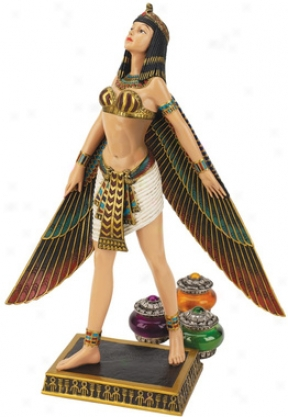 All-powerful Egyptian Goddess Isis Sttatue