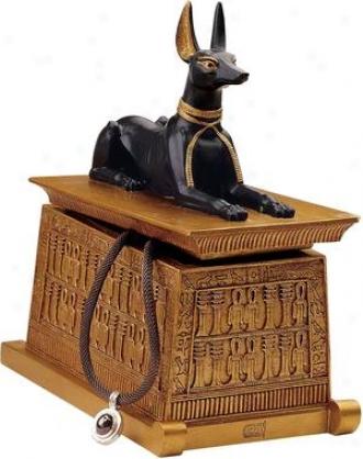 Anugis On The Mastaba Pedestal Box