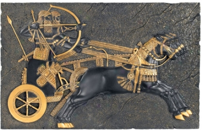 Assyrian War-chariot Charving The For Wall Sculpture