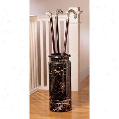Authentic 44-lb. Solid Ebony Marble Cane And Umbrella Vessel
