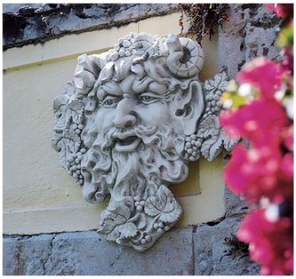 Bacchus, God Of Wine: Greenman Wall Sculpture