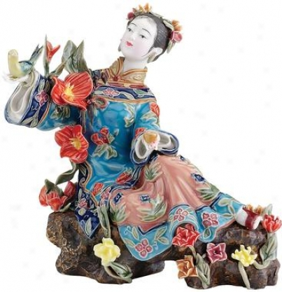 Bed Of Flowers Collectible Porcelain Sculpture