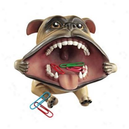 Big Mouth Bulldog Statue