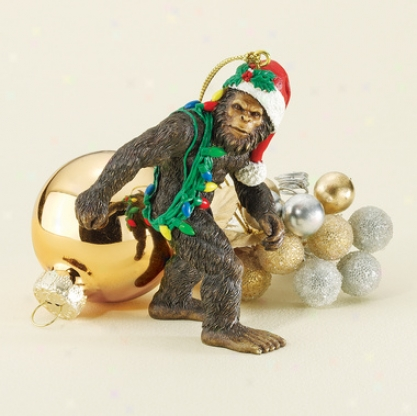 Bigfoot, The Holiday Yeti Holiday Ornament