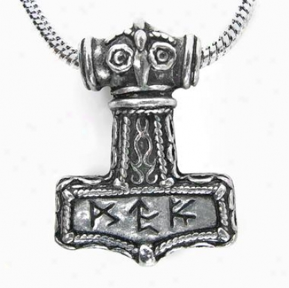 Bindrune Viking Hammer Pendant By Alchemy Jewelry