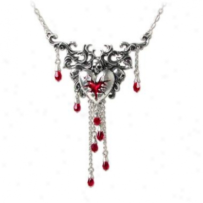 Bleeding Heart Gothic Pendant By Alchemy Jewelry