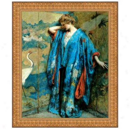 Blue And Yellow, 1910 Canvas Replica Painting: Small