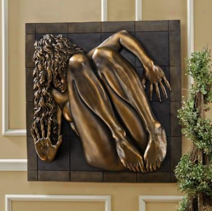 Boxed In Nude Female Wall Sculpture