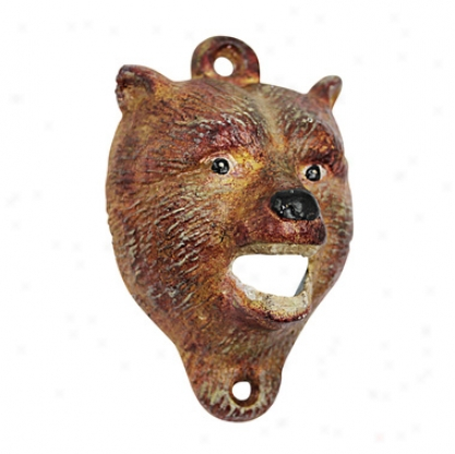 Brown Bear Of Thw Forest Cast Iron Bottle Opener: Set Of Two