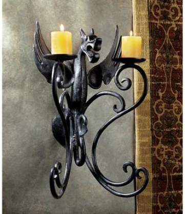 Caztle Dragon Ion Wall Sconce