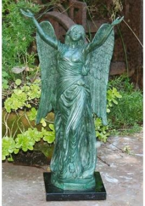 Celestine Angel Dense Bronze Garden Statue
