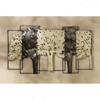Central Park Tree Line Metal Wall Sculpture