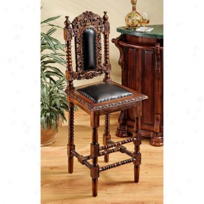 Charles Ii Gothic Bar Stool