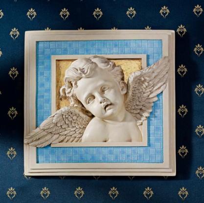 Cherub's Heavenly Gaze Wall Sculpture