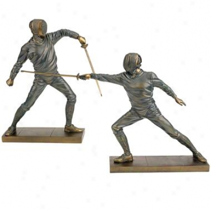 Close Combat Fencing Statues: Sabre Down & Sabre Tight