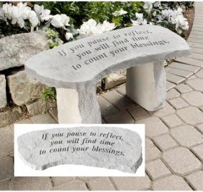 Count Your Bleasings Cast Stone Memorial Garden Bench