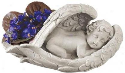 Cradled In Hope Cherub Statue