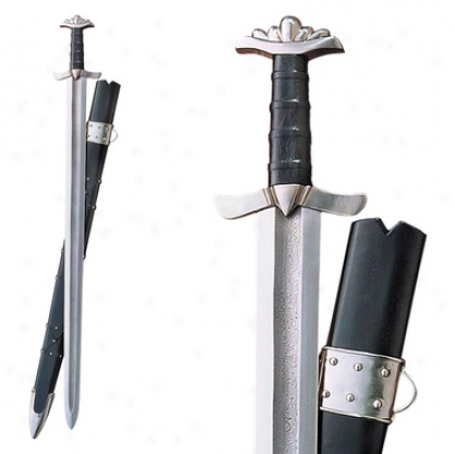Damascus Viking Warrior Sword: Unsharpened