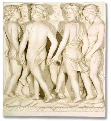 Dancing Cantorja Religious Sculptural Wall Frieze