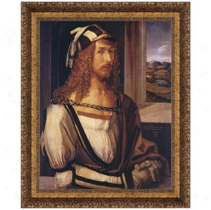 Durer Self Portrait, 1498, Canvas Replica Painting: Small