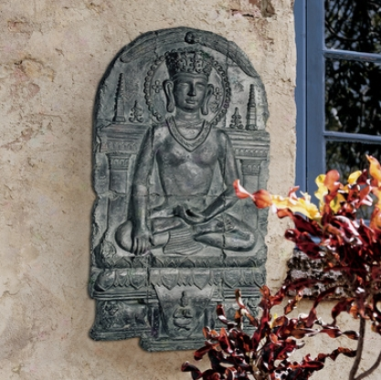 This world Witess Buddha Sculptural Wall Frieze