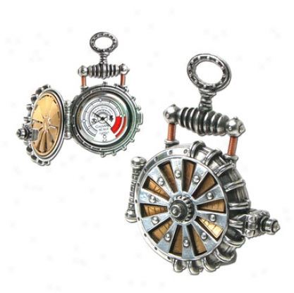 Eer Patent Solar Powered Turbine Steampunk Fob Watch By Alchemy Jewelry