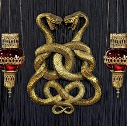 Egyptian Infinity Cobra Twins Wall Plaque