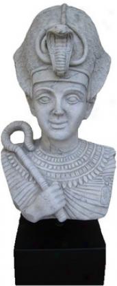 Egyptian Pharaoh Ramses Statue On Musehm Mount