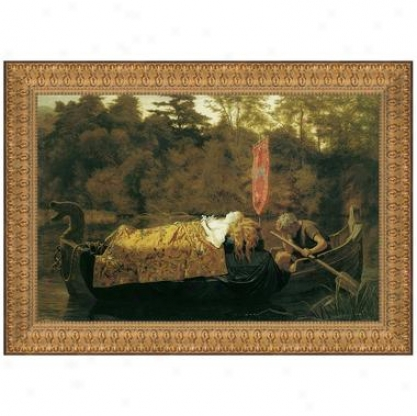 Elaine, The Lily Maid Of Astolat, 1870, Canvas Replica Painting: Small