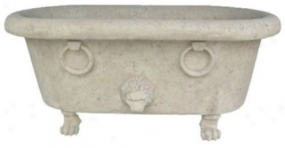 Emperor Nero's Scaled Lion Claw Foot Tub Architectural Sculpture