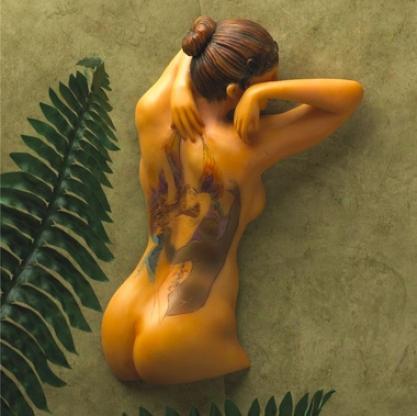 Fairy Maiden Tattooed Woman Wall Sculpture