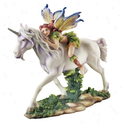 Fairy Princess Magical Unicorn Ride Statue