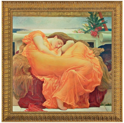 Flaming June, 1895, Canvas Replica Painting: Small