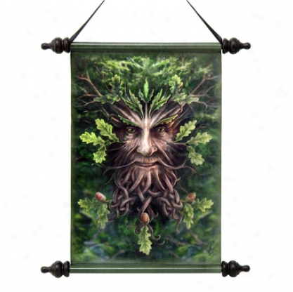 Forest Greenman Ent Canvas Wall Scroll Tapestry