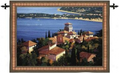 Garden On The Cote D'azur Wall Tapestry: Medium