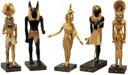 Gods Of The Egyptian Realm Statues