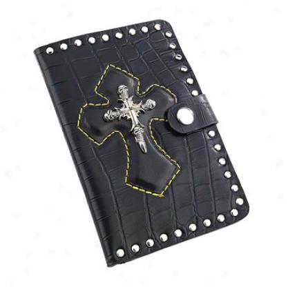 Gothic Cranium Maltese Cross Biker Wallet