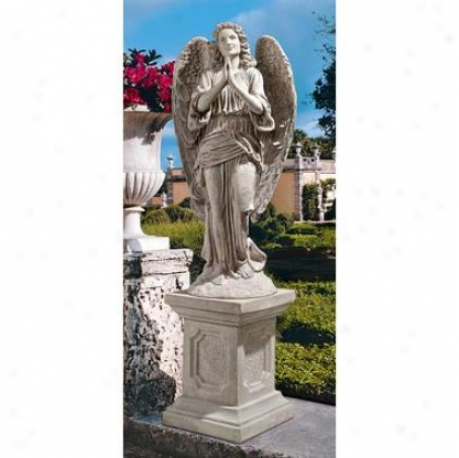 Grand Basilica Praying Angel Garden Statue