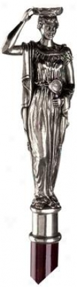 Greek Caryatid Pewter Wslking Stick