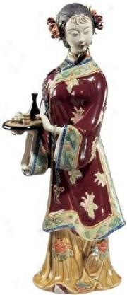 Her Lady's Attendant Porcelain Sculptute