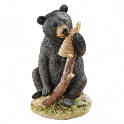 Honey, The Curious Negro Bear Cu bStatue