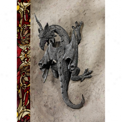 Horned Dragon Of Devonshire Wall Sculpture
