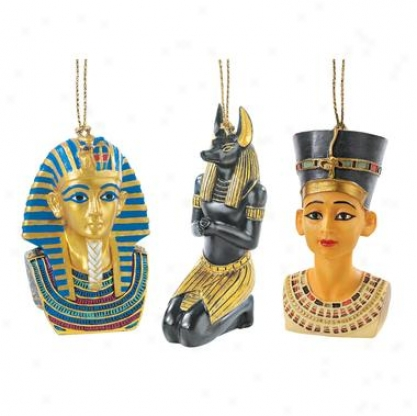 Icons Of Ancient Egypt Holiday Ornament Assemblage: Set Of Three