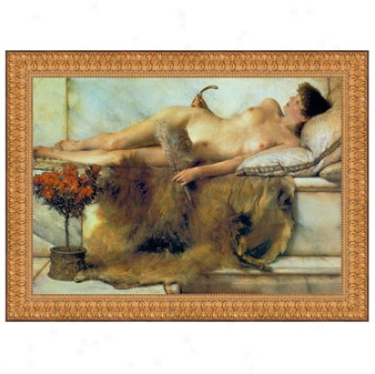 In The Tepidarium, 1881, Canvas Replica Painitng: Small