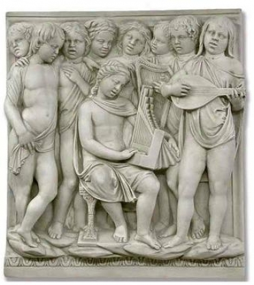 Instruments Cantoria Conscientious Sculptural Wall Frieze